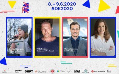 Til Schweiger, Marcell Jansen, Corinna Bremer und Annika Rittmann. Das sind die ersten DK Festival Speaker!