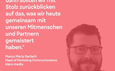 DK Talk: mit Marco Maria Gerlach von klaro media